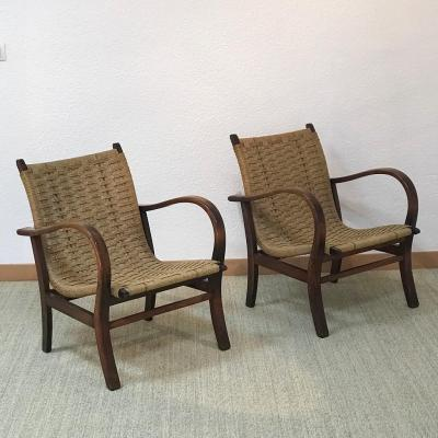Bauhaus Armchairs Attributed To Erich Dieckmann