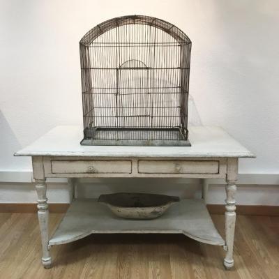 Cage aux Oiseaux en Métal, 19ème Siècle