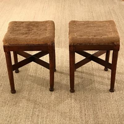 French Directoire Pair Of Stools, Late 18th