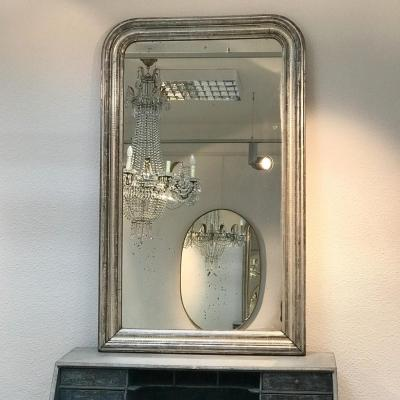 Miroir Louis Philippe Argenté, Circa 1850