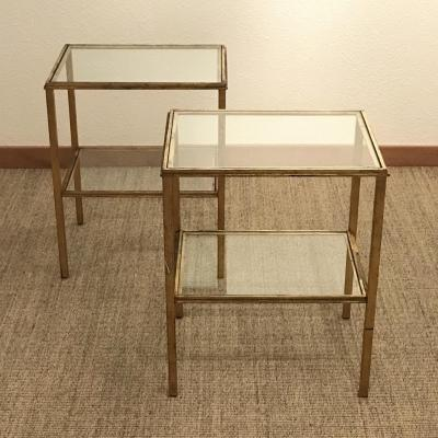 Roger Thibier Pair Of Side Tables, 1960s