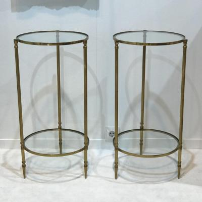 French Pair Of Side Tables, 1960s