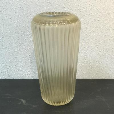 Murano Crystal Vase Signed Fratelli Toso, 1950s