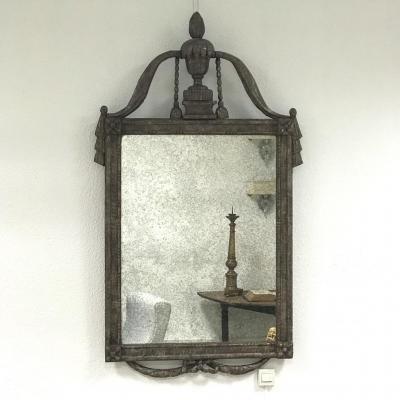 Miroir Louis XVI Argenté, 18ème