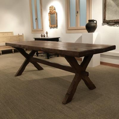 Table Rustique Ancienne En Noyer