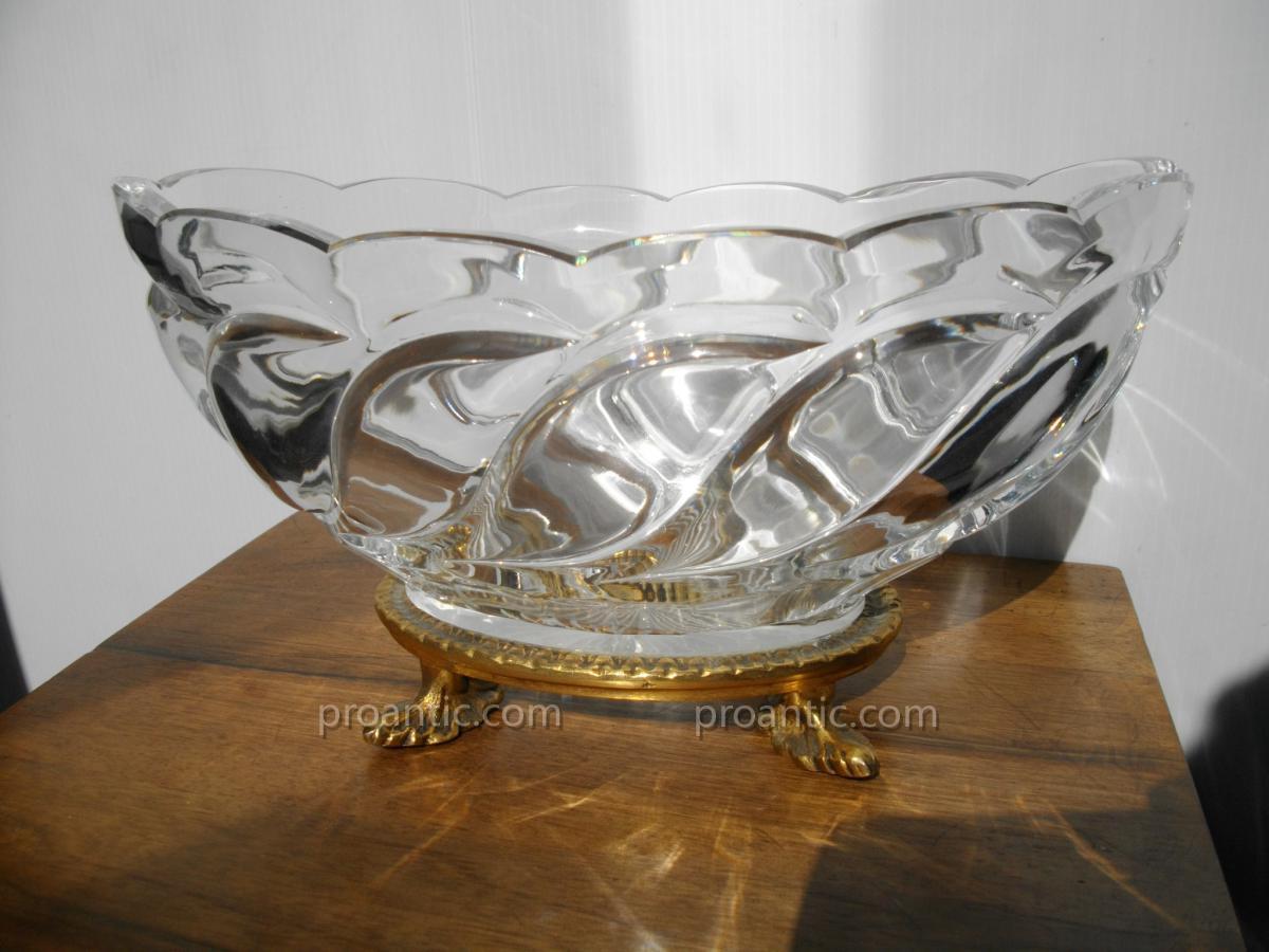 coupe en cristal baccarat et bronze dor xix me coupes vasques cassolettes. Black Bedroom Furniture Sets. Home Design Ideas