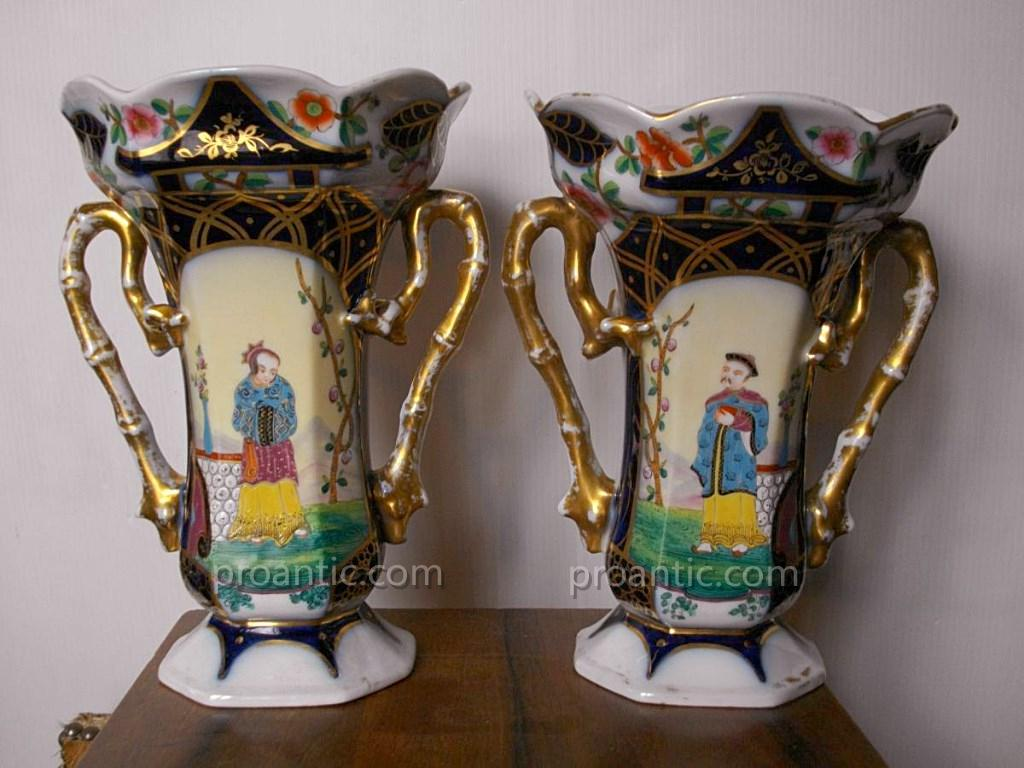 Pair Of Vase Bayeux Louis Flourens Gosse Period 1851-1878