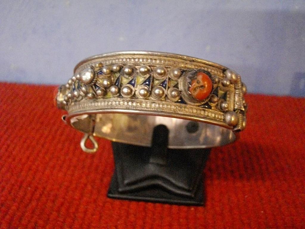 Bracelet Berbere Silver Cloisonne