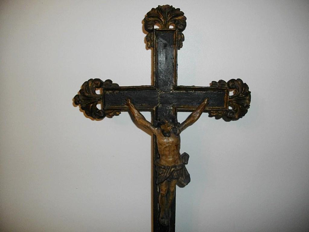 Crucifix Bois Mouluré XVIII ème