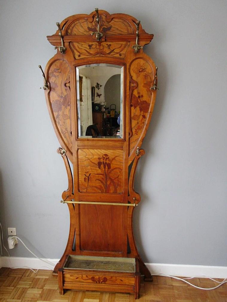 vestiaire art nouveau cole nancy gall majorelle autres meubles. Black Bedroom Furniture Sets. Home Design Ideas