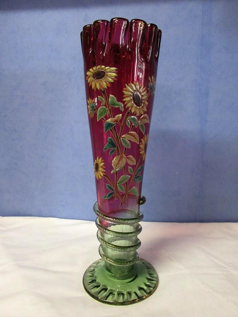 Grand Vase Legras émaillé En Relief