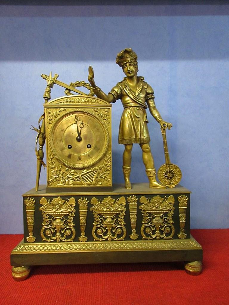 Pendule Empire Bronze Doré Le Musicien