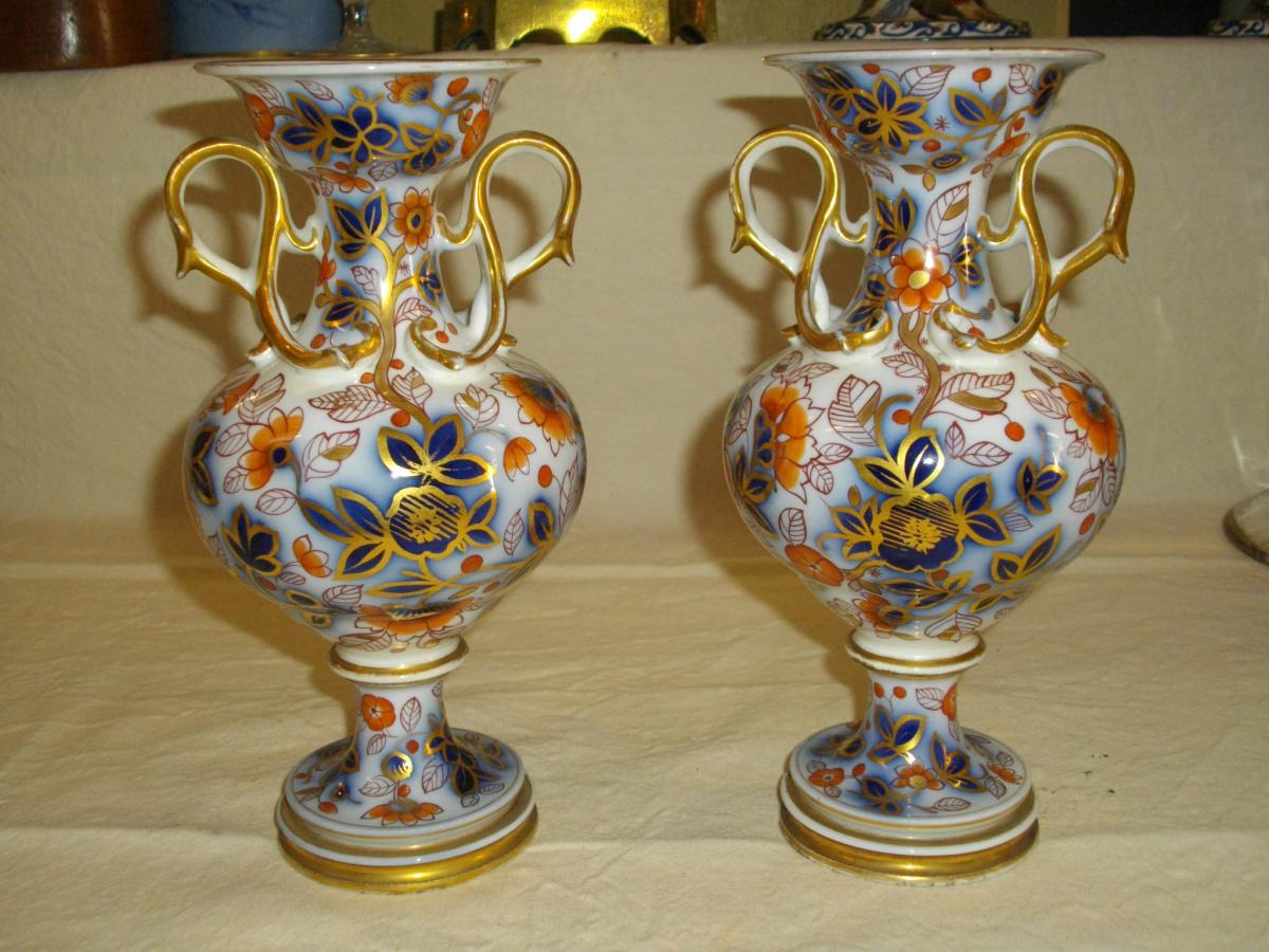 paire de vase porcelaine de bayeux objets d coration vases en porcelaine. Black Bedroom Furniture Sets. Home Design Ideas