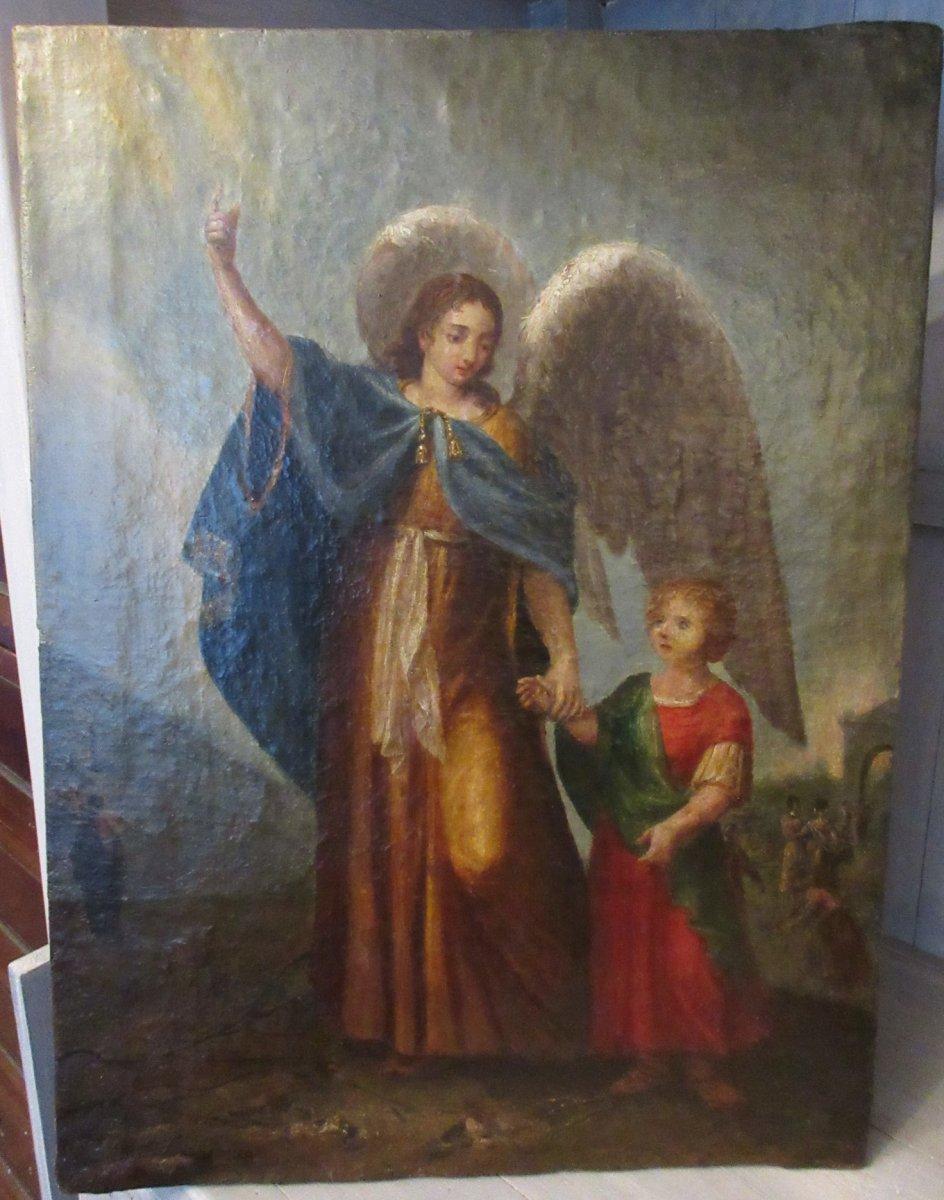 l'archange Et l'Enfant XVIIIème