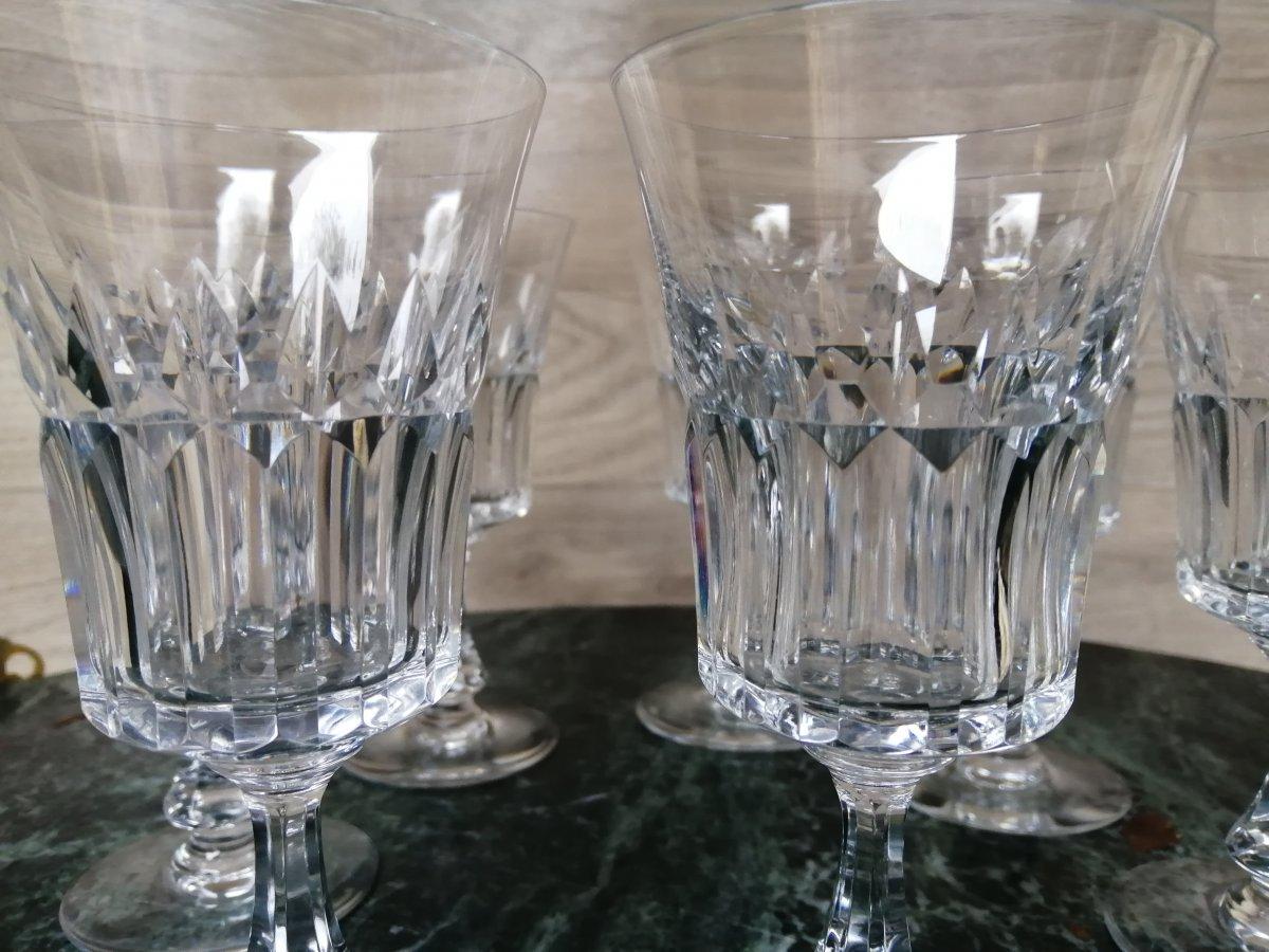 10 Verres A Vin En Cristal De Baccarat