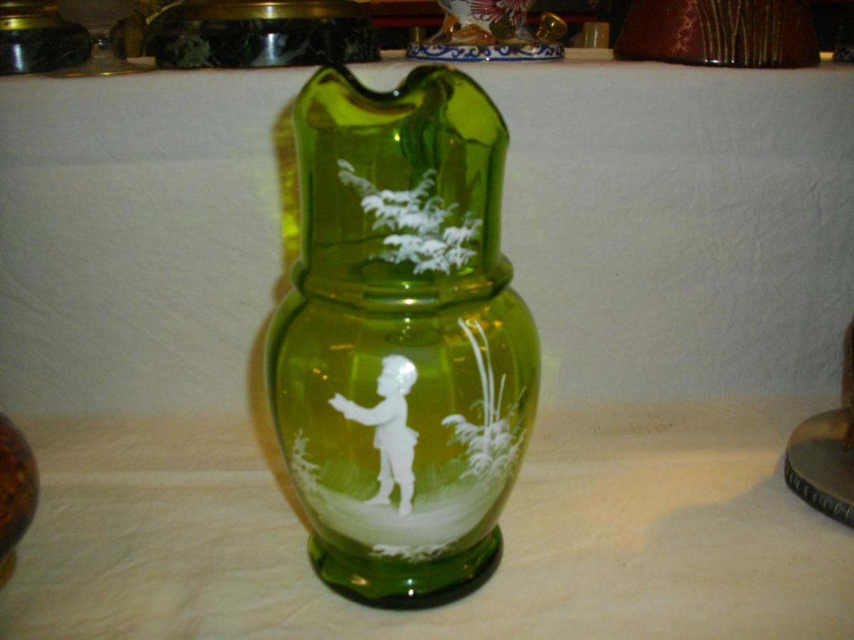pichet marie gregorie verre emaille vases et objets en verre. Black Bedroom Furniture Sets. Home Design Ideas