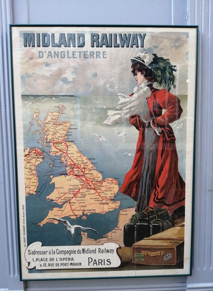 Poster 1899 Henri Gray Midland Railway Of England