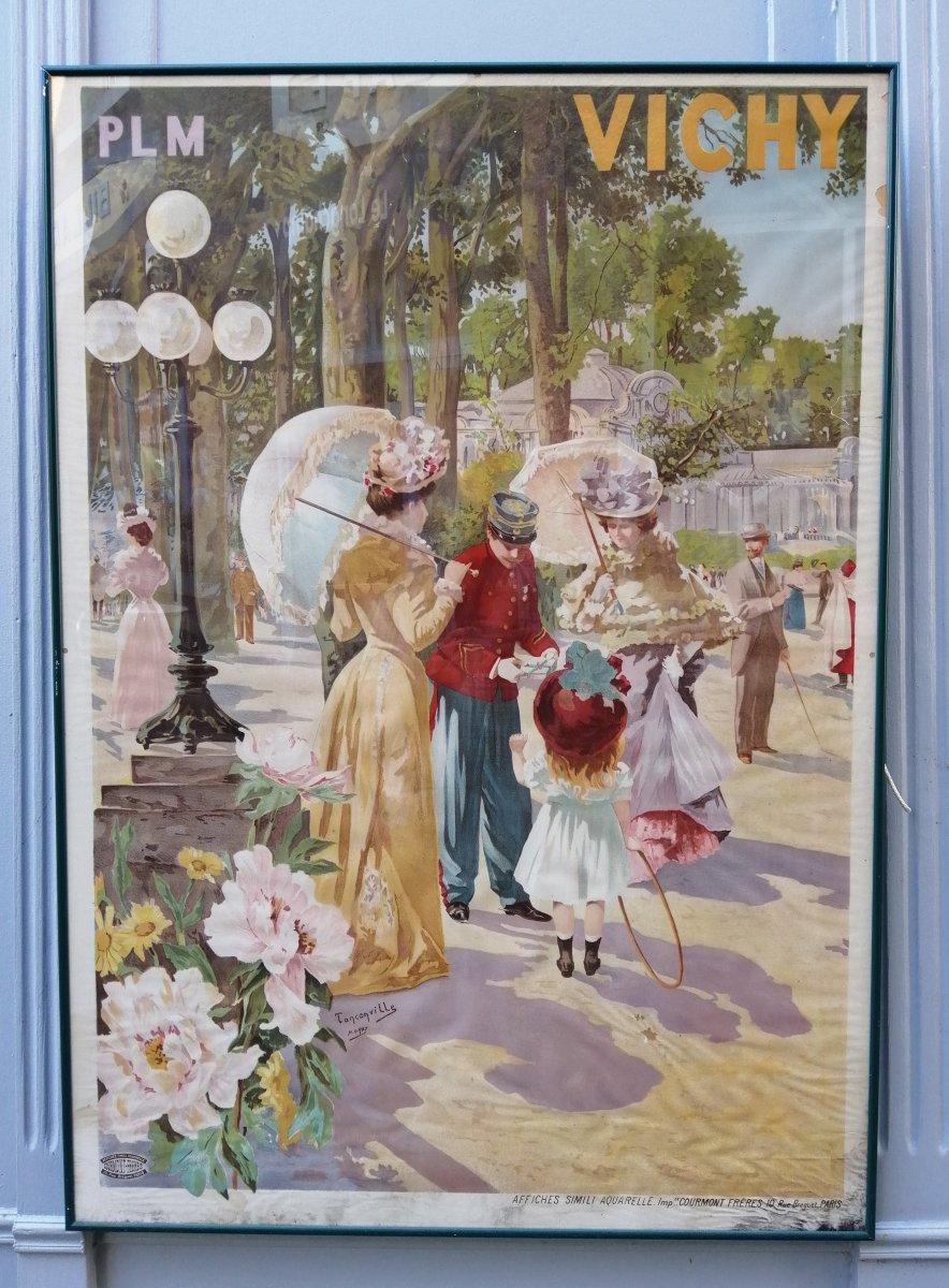 Plm Poster Vichy Chemin De Fer Parc Des Sources 1900
