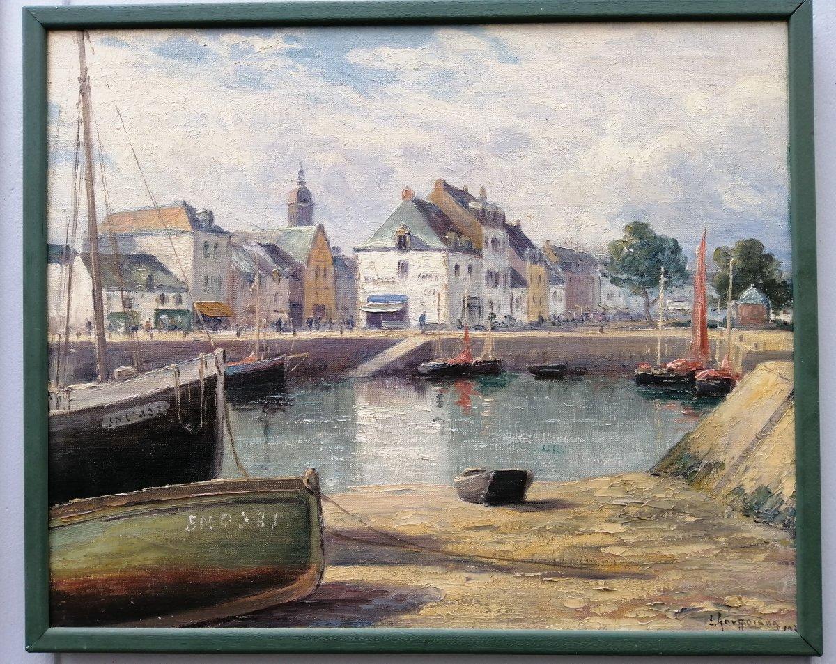 Le Croisic  émile Gauffriaud  Vu Du Port