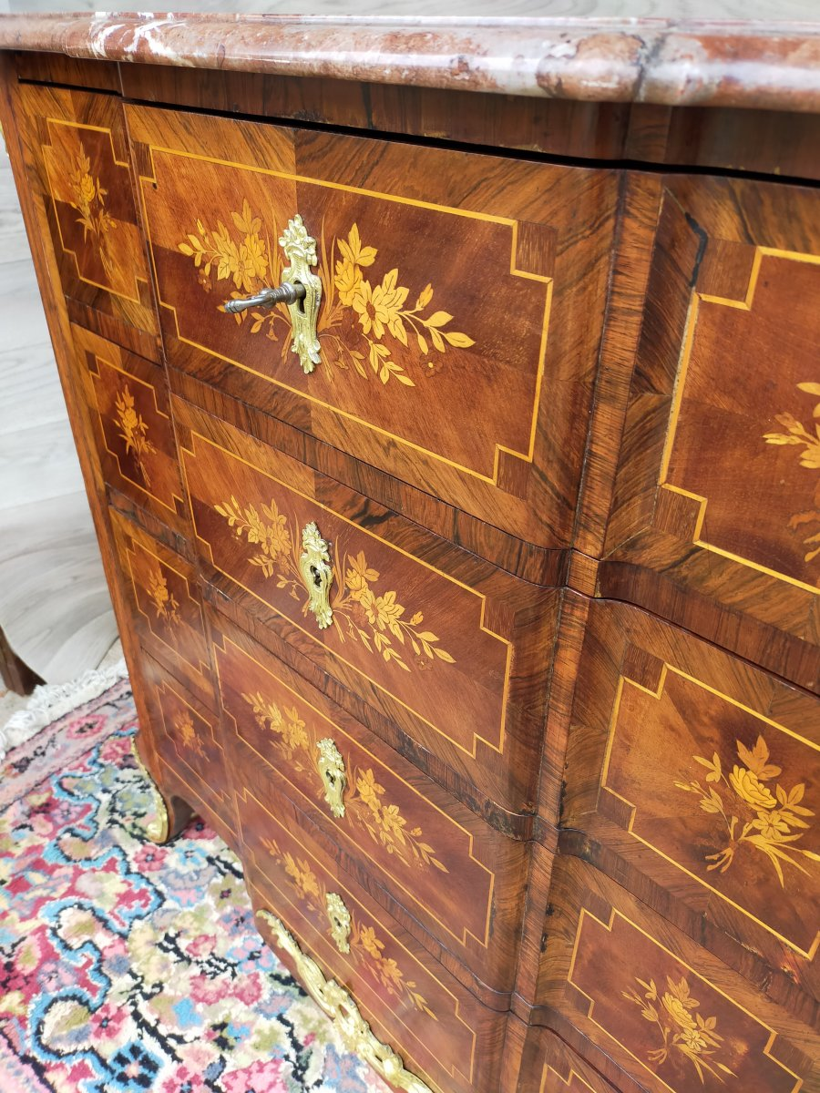 Faubourg St Antoine Paris Small Marquetry Commode