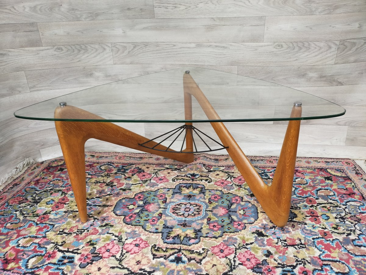 Louis Sognot Zig Zag Coffee Table