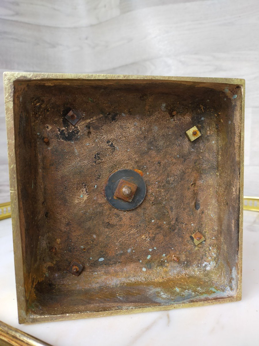 Grand Vase Charles X Bronze Et Cristal Décor De Tetes De Cygne (saint louis )-photo-3