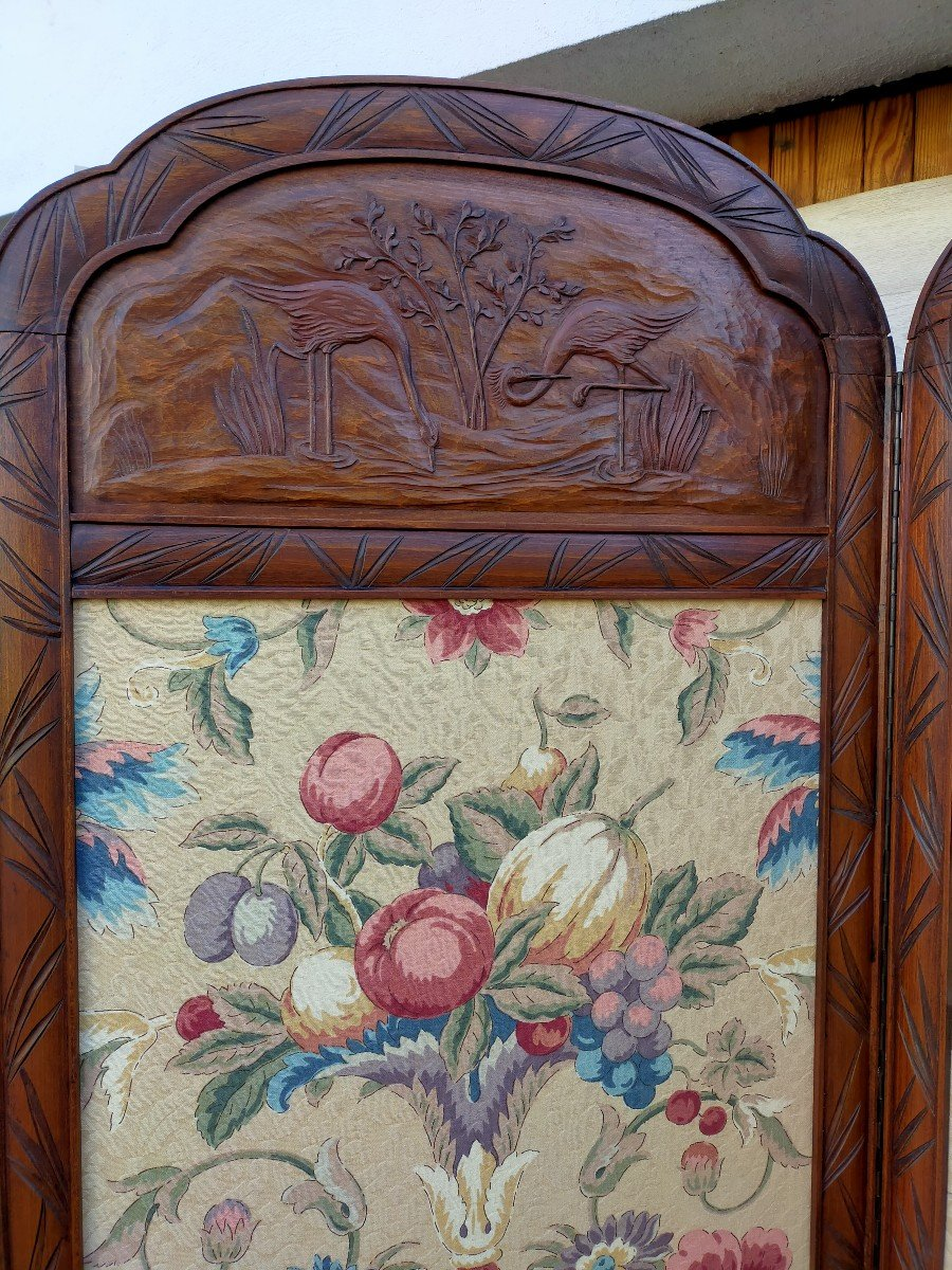 Grand Paravent Art Nouveau Art Déco -photo-5