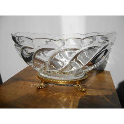 Coupe En Cristal Baccarat Et Bronze Doré XIX ème