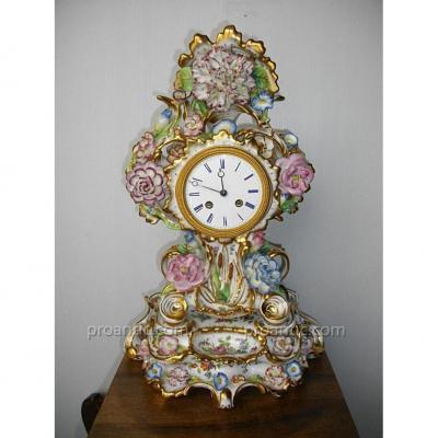 Pendule Porcelaine Paris XIXème Jacob Petit