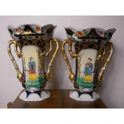 Pair Of Vase Bayeux Louis Flourens Gosse Period 1851-1878