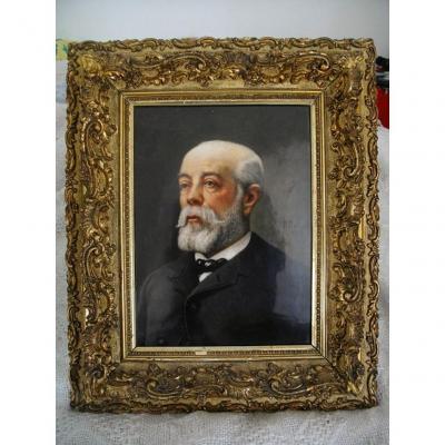 Portrait Porcelaine Limoges F Duclair XIX ème