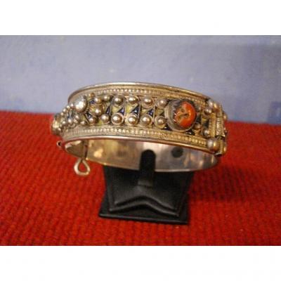 Bracelet Berbere Argent Cloisonné