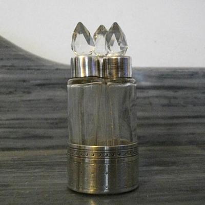 Petit Flacon De Parfum Argent Massif