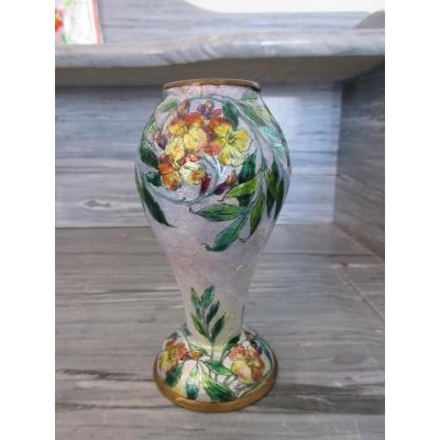 Jules Sarlandie Vase émail De Limoges