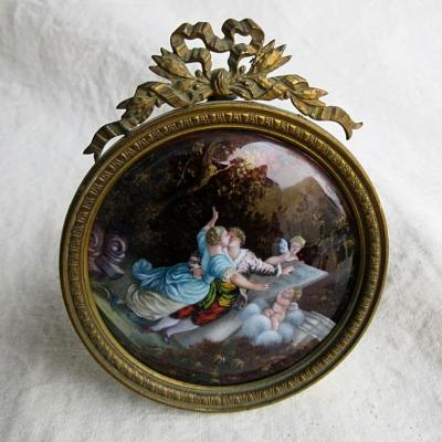 Frame In Bronze And Limoges Enamel