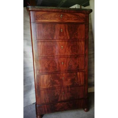 Weekly Flamed Mahogany Louis Philippe Chiffonnier