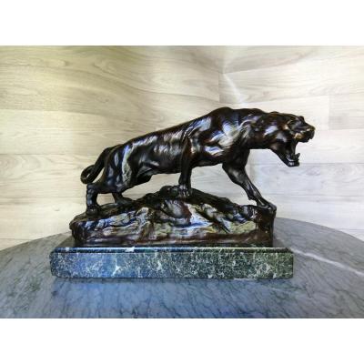 Tigre En Bronze De Thomas Cartier