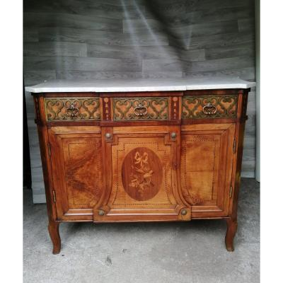 Transition Marquetry And Bronze Dresser