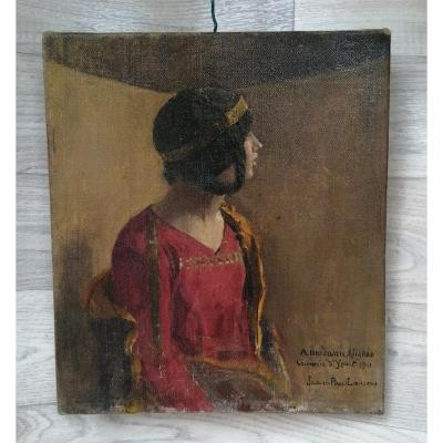 Jean Paul Laurens Jeune Femme Oriental  1911 Souvenir d'yport