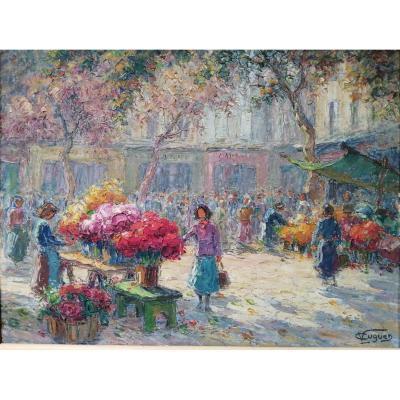 Marché Aux Fleurs De Toulon Cours Lafayette   Victor Louis Cugen