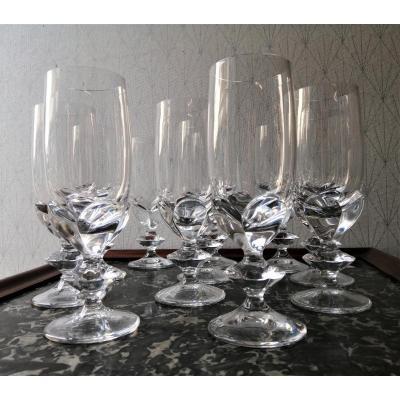 Service En Cristal De Lalique  Flutes A Champagne Modèle Blois