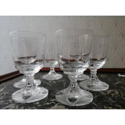 Lalique Crystal Wine Glass Service Valençay Model