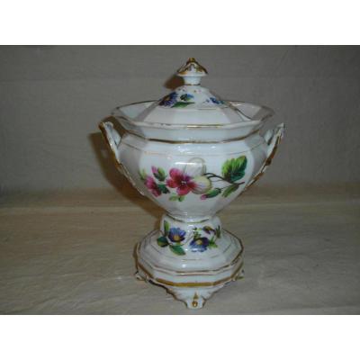 Grand Sucrier Porcelaine Paris 19eme