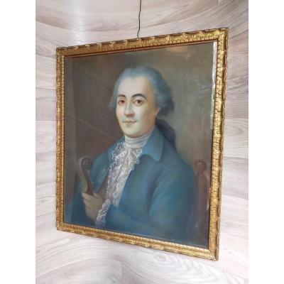 le musicien Portrait d'Homme En Costume XVIIIème