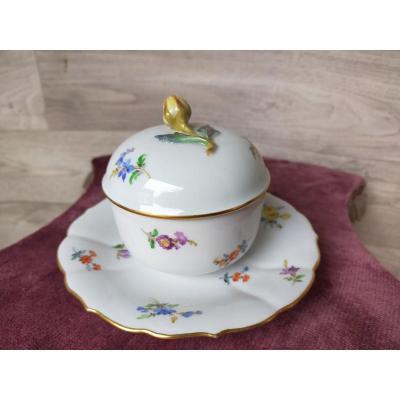 Sucrier En Porcelaine De Meissen