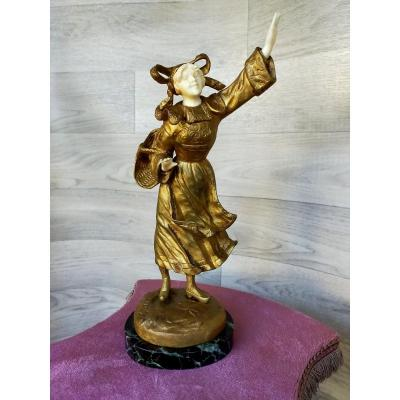 The Alsatian Bronze Chryséléphantine Georges Omerth (act.1895-1925)