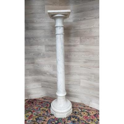 19th Century White Marble Column