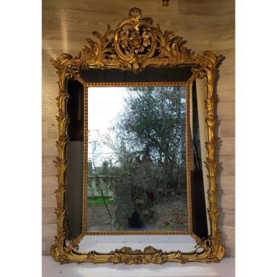Mirror With Beads Gilding With Gold Leaves (beads)