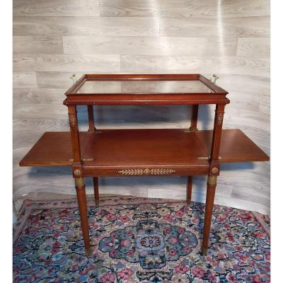 Maison Jansen Mahogany And Gilt Bronze Serving And Tea Table