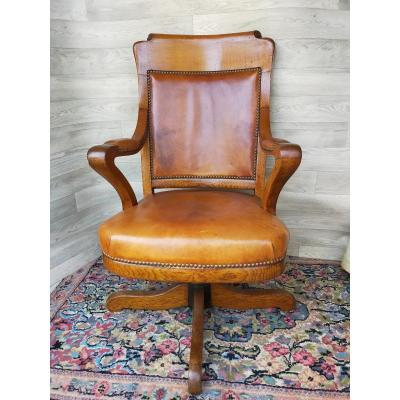 English Or American Office Rocking Chair Maison Cosmos Paris Rue De Grammont